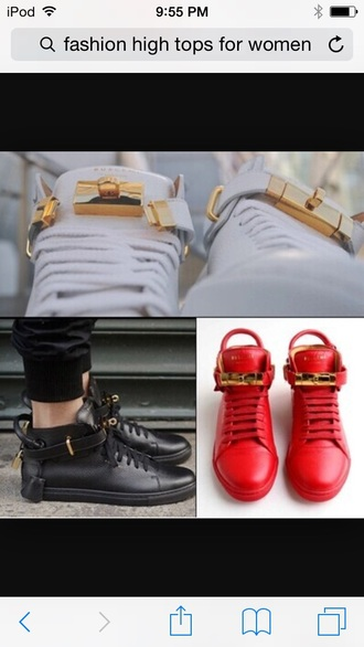 shoes white shoes black shoes red shoes high tops gold lock