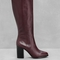 & other stories | leather knee boots | dark red