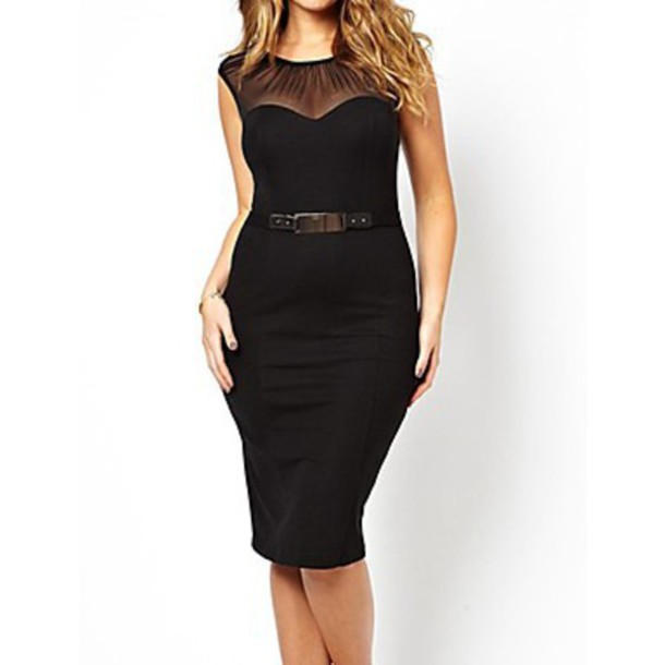 dress belted midi dress with ruched mesh