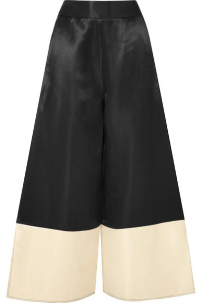 Beaufille pants wide-leg pants black satin