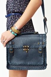 bag,woven,dreamweaver,blue bag,vintage,navy