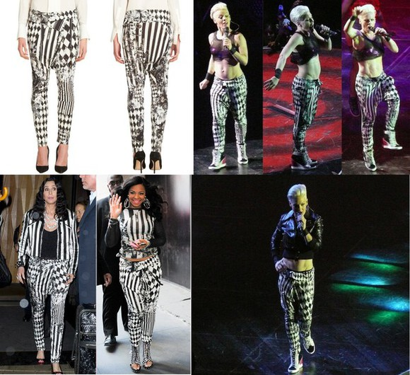 jeans pattern pattern pants harem harem pants balmain diamond tile print harem pants in black/white balmain diamond tile print harem pants in black/white black/white leggings pajamas copies similar similar cheaper celebrity style