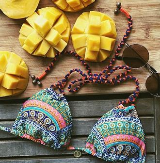 swimwear bikini top bikini bathing suit top geometric patterned swimwear