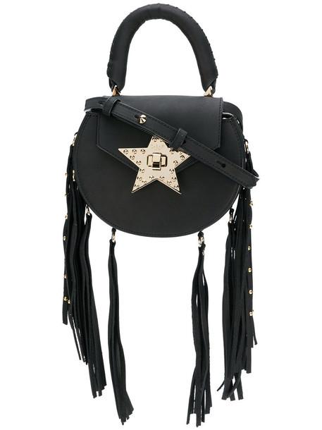 Salar women bag crossbody bag suede black