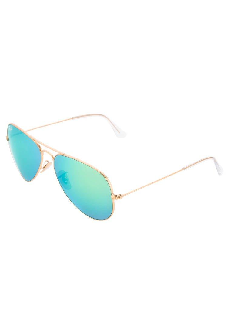 Ray-Ban AVIATOR - Sonnenbrille - goldfarben/grün - Zalando.de