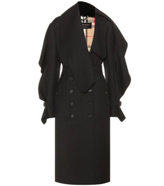 Burberry coat wool black