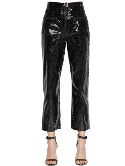 2019 discount sale top-rated cheap look out for SELF-PORTRAIT - ZIP FRONT FAUX PATENT LEATHER PANTS - LUISAVIAROMA