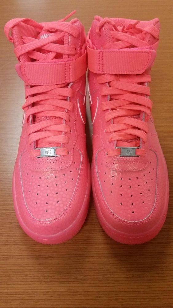 check out d61ca 85085 womens nike air force 1 hi high premium hot lava pink sz 8.5