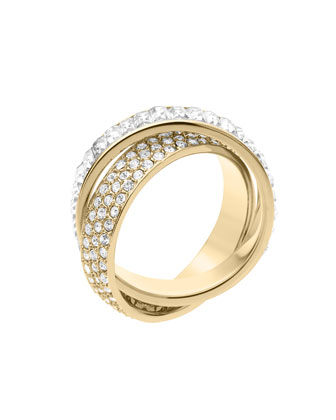 Michael Kors Pave/Baguette Eternity Ring, Golden - Michael Kors
