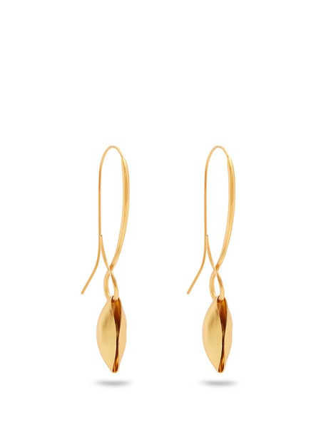 ALBUS LUMEN shell earrings gold jewels