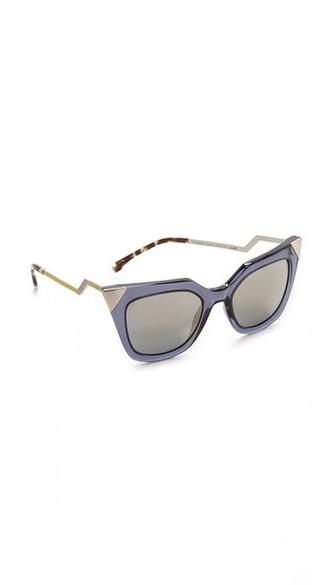 transparent sunglasses blue grey bronze