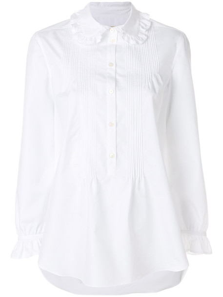 Burberry shirt women white cotton top