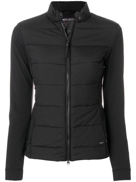 Woolrich jacket women spandex fit black