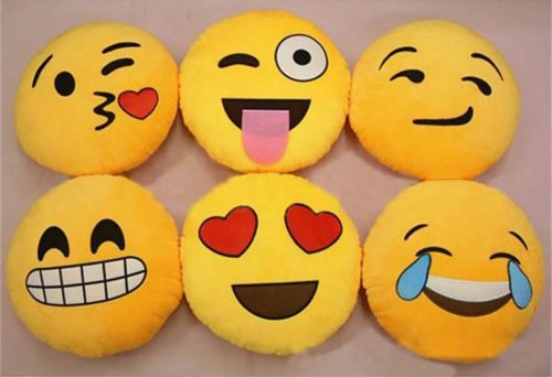 Soft Emoji Smiley Emoticon Yellow Round Cushion Pillow Stuffed Plush Toy Doll-in Cushion from Home & Garden on Aliexpress.com