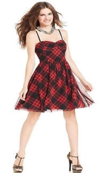 dress plaid dress red dress mini dress