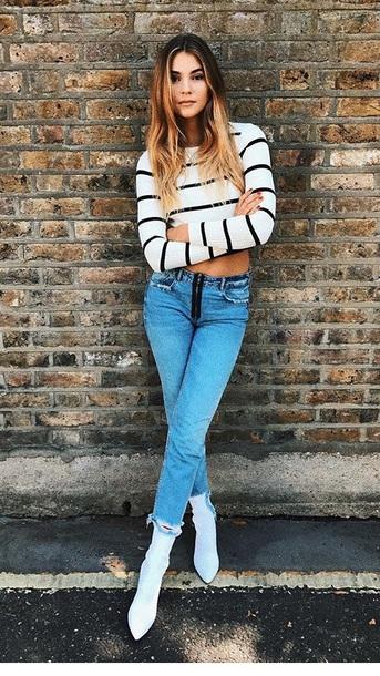jeans need  blue blue jeans plssss blouse