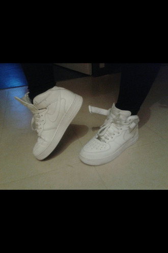 shoes nike air force 1 white basket nike sneakers