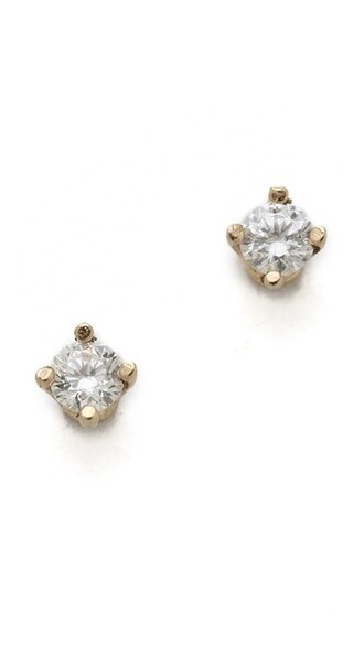 diamonds earrings stud earrings gold white yellow jewels