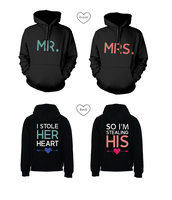 mr and mrs,stealing heart,stealing heart hoodies,stealing heart sweatshirts,mr and mrs hoodies,his and hers gifts,his and hers sweatshirts,his and hers hoodies,matching couples,wedding gifts,couple hoodies,newlyweds gifts,couple,i stole her heart so i'm stealing his