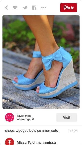 shoes baby blue