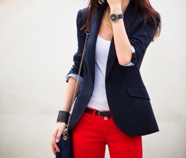 Jacket shirt casual but stylish jeans top bag formal - Wheretoget