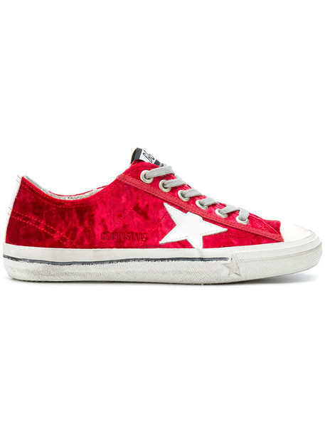women sneakers leather cotton red shoes