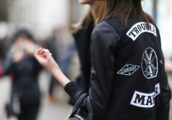 jacket black jacket trouble maker