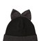 Wool beanie hat with lamé bow