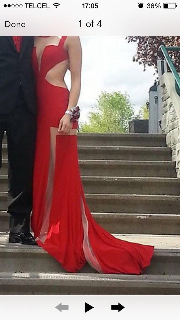 red dress dress long prom dress maxi dress prom dress