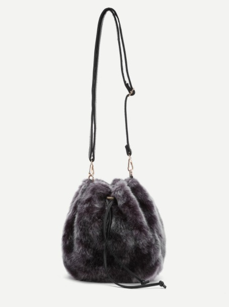 bag girly fur shoulder bag