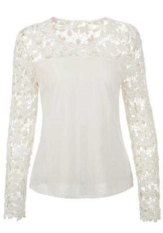Cute lace chiffon shirt
