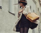 brown bag,bag,h&m,coat,dress,jacket