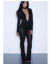 jumpsuit,black,black jumpsuit,see through,one piece,mesh,stripes,clubwear,party outfits,sexy,sexy outfit,summer outfits,spring outfits,fall outfits,winter outfits,classy,girly,cute,date outfit,summer holidays,pool party,wedding clothes,wedding guest,dope