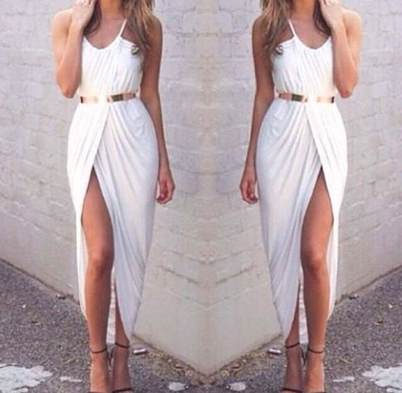 dress asymmetrical white dress