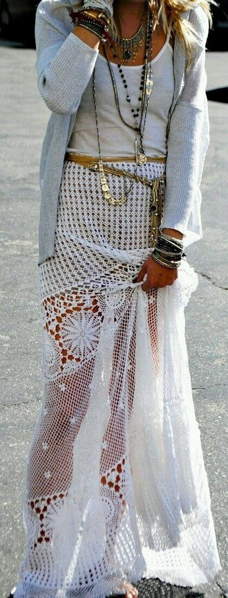 dress boho knit white belt gold cover up white knit white knit cover up gold belt boho chic white knit dress white dress white cover up knit dress knit cover up vute cute cover up cute dress cute