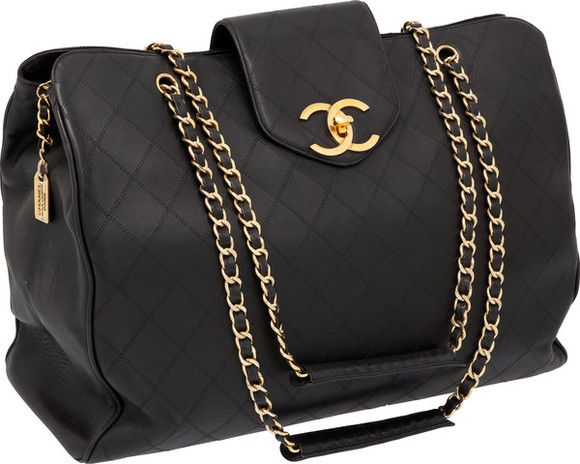 bag tote bag leather tote bag chanel black leather bag