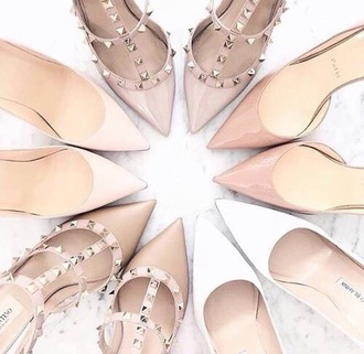 shoes heels pink nude heels nude studded shoes