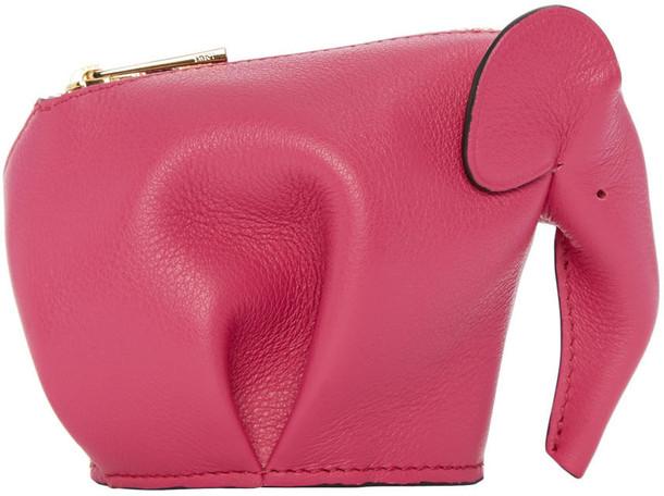 LOEWE elephant pouch pink bag