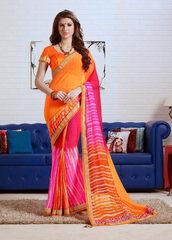 dress,orange color casual saree online,sarees,casual sarees,women wear,indian ethnic wear,ethnic sarees