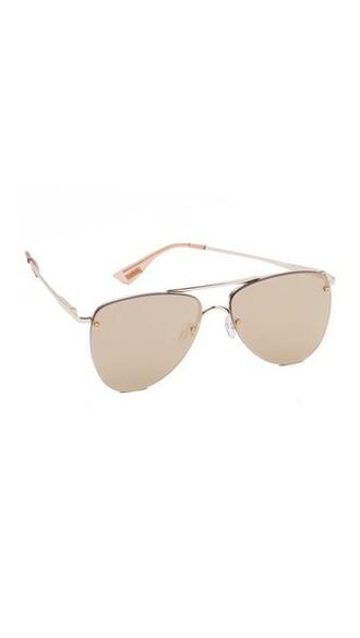 tan sunglasses mirrored sunglasses gold