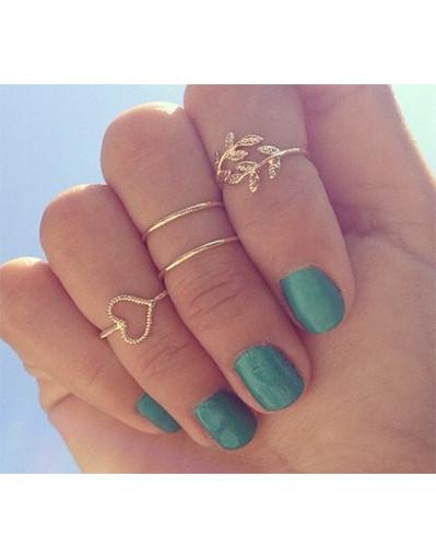 4 pcs lovely ring set