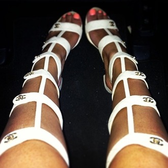 shoes knee high chanel gladiator sandals
