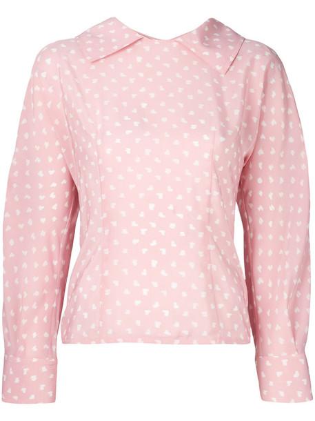 MARNI blouse women silk purple pink top
