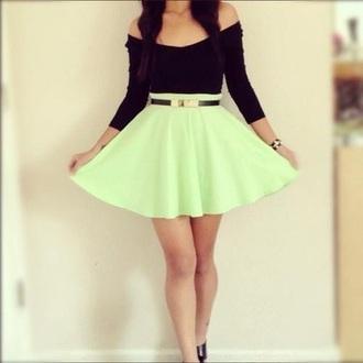 skirt dress black mint girly fancy cute