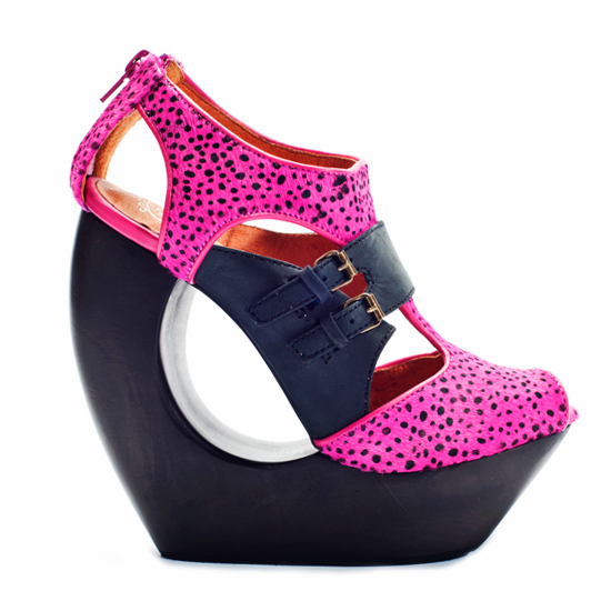Jeffrey Campbell ROCK ME Wedge in Pink Cheetah – FLYJANE
