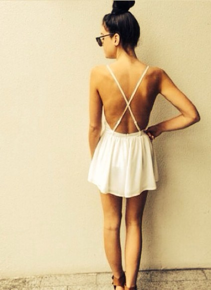 white white dress short
