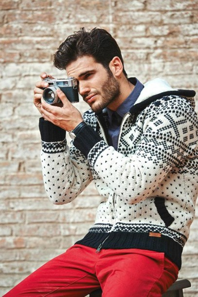 jacket black white menswear winter sweater hipster menswear