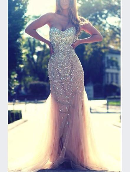 diamonds sparkly prom dress beautiful dress prom silk