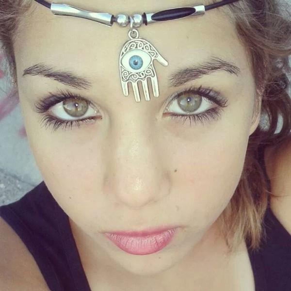 jewels eye necklace illuminati hand gold silver blue white egyptian