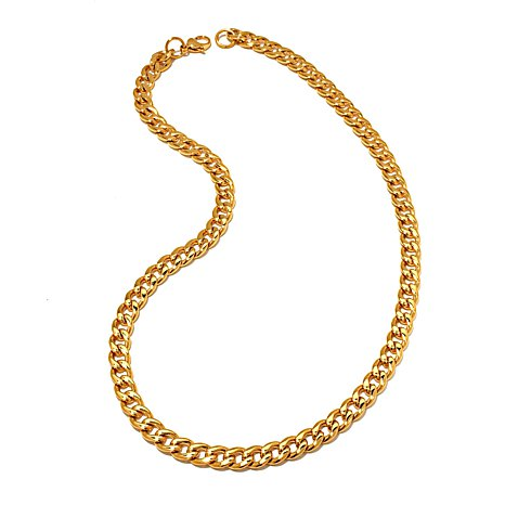 Men's Stainless Steel Goldtone Curb-Link Chain Necklace at HSN.com